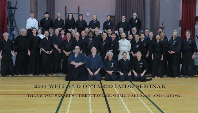 Group Photo - Welland Martial Arts Centre Annual Iaido Workshop 01 Mar 2014