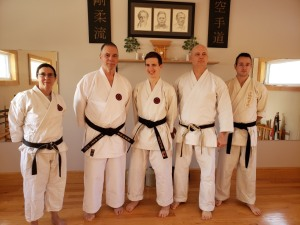 Yudansha training today and Morgan receiving his Signature Obi after finding out had challenged Nidan successfully! 1