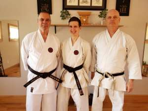 Yudansha training today and Morgan receiving his Signature Obi after finding out had challenged Nidan successfully!! 2